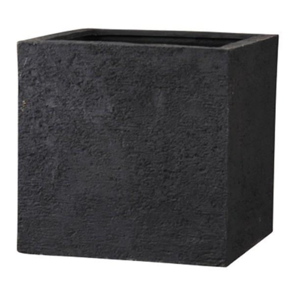 ご注文で当日配送 樹脂製 植木鉢 プランター ブラック 幅50cm 新素材ポリストーンライト使用 数量は多 底穴あり キューブ リガンデ