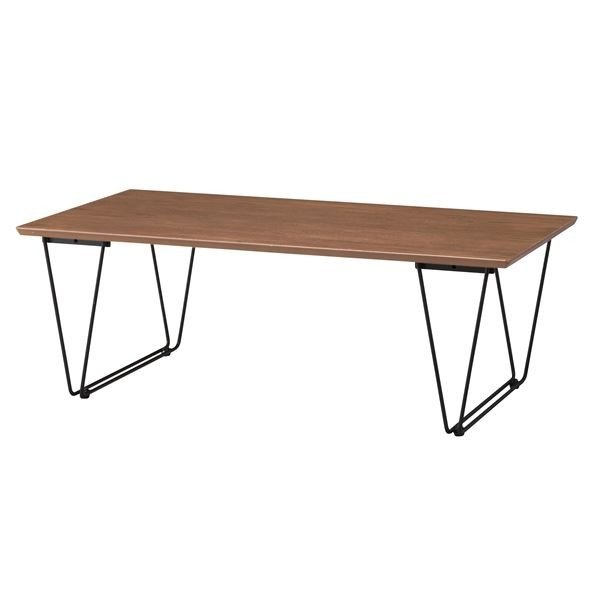 <title>デザインコーヒーテーブル ローテーブル 幅110cm スチール脚 ブラウン 無料 アーロン END221BR 木製 天然木</title>