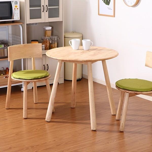 木製ラウンドテーブル 幅80cm 天然木 お洒落 ナチュラル テーブル Signature Natural ティムバ ◆セール特価品◆