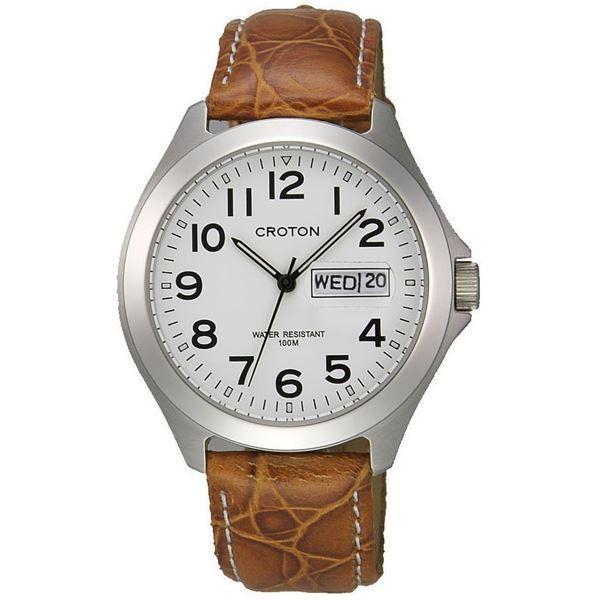 腕時計パーツ   CROTON(クロトン) 腕時計 3針 デイデイト 10気圧防水 RT144M3