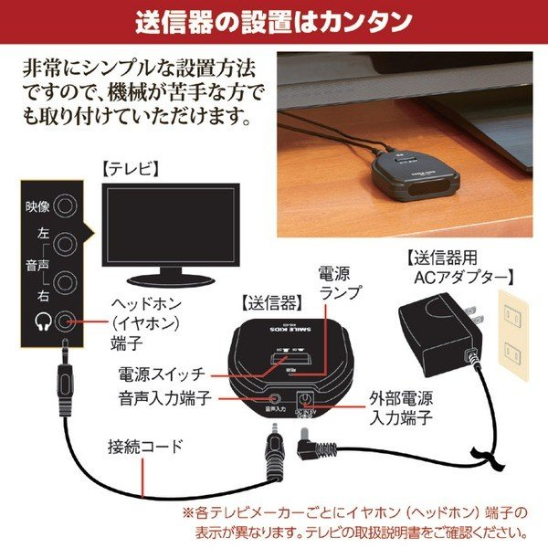 ワイヤレス 手もとスピーカー2 (到達距離:約7m) 赤外線使用 簡単操作 | 家電|aks|04