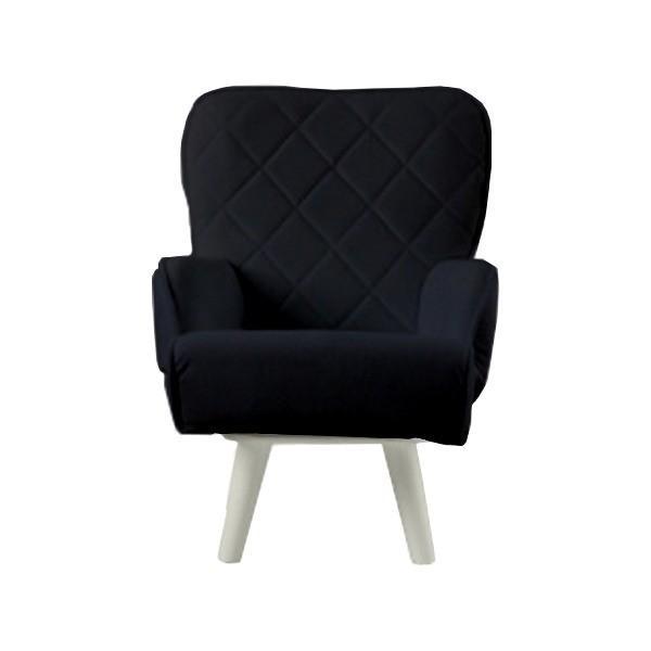 Liloudecoco リルデココ 回転ローチェアー ポケット付 ブラック 姫系 椅子 ソファー 一人掛け 日本 高座椅子 迅速な対応で商品をお届け致します キルティング