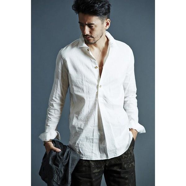 <title>メーカー直売 VADEL swedish pullover shirts WHITE サイズ46 メンズシャツ</title>