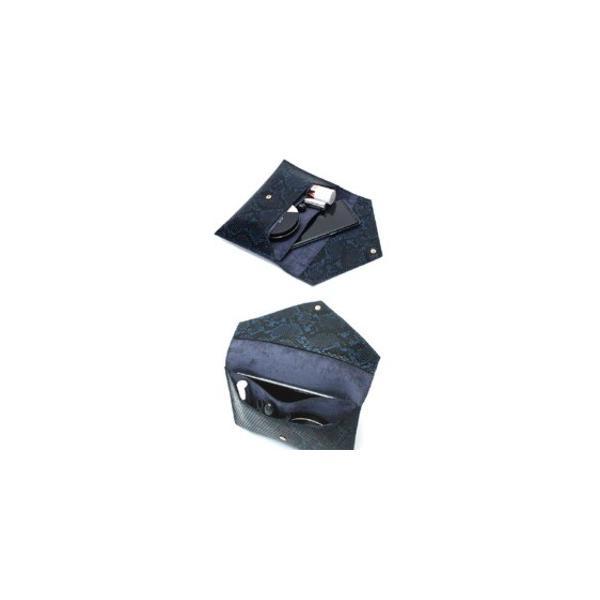 レディースクラッチバッグ | 整理できるポケット付仕切りが付いたスネーククラッチバッググレイ