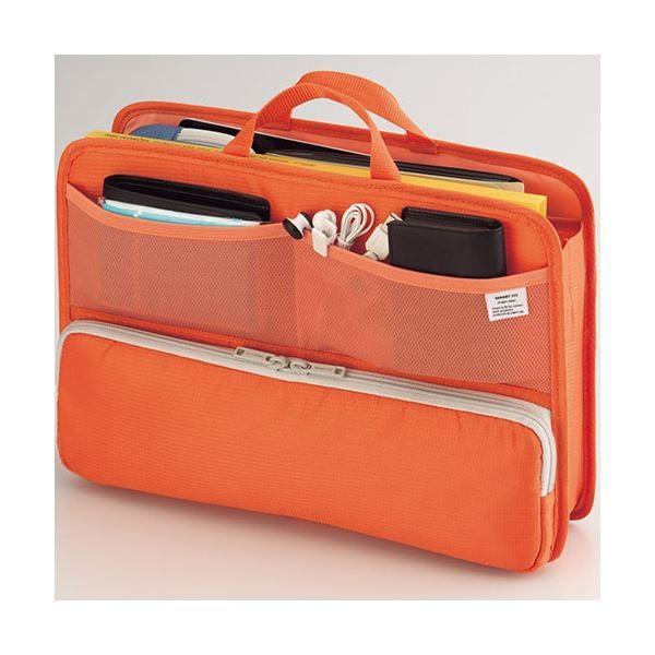 (まとめ)リヒトラブ SMART FITbright label スタンドポケット (ヨコ型) A4 オレンジ A76644 1個(×2)
