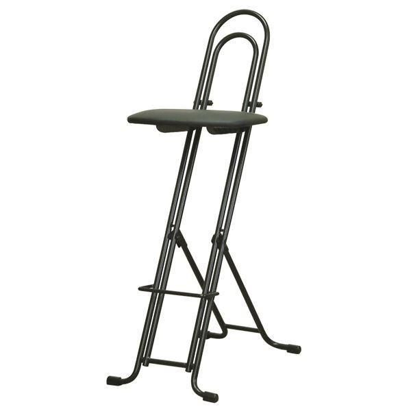 シンプル 折りたたみ椅子 ブラック×ブラック 幅330mm LP800 事務用チェア 日本製 お気にいる スチールパイプ 信託