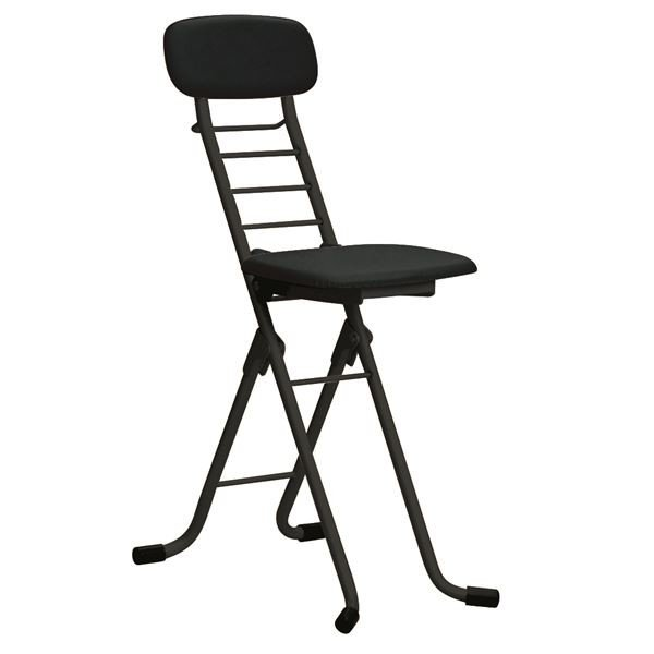 折りたたみ椅子 新作 人気 4脚セット ブラック×ブラック 幅35cm 超人気 専門店 高さ6段調節 日本製 スチールパイプ 折りたたみチェア