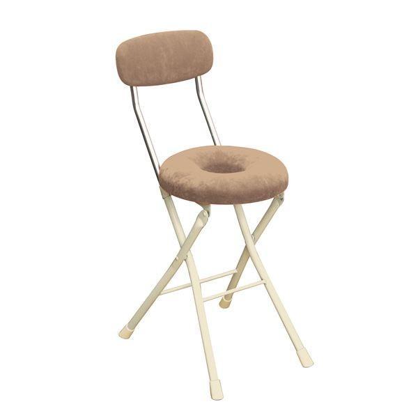 円座 安心と信頼 折りたたみ椅子 4脚セット アイボリー×ミルキーホワイト スチール 幅33cm 日本製 新入荷 流行 折りたたみチェア