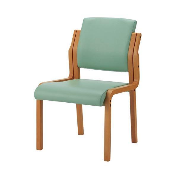 ジョインテックス 会議イス WFC5L ミントグリーン肘無 椅子 木製 記念日 日本