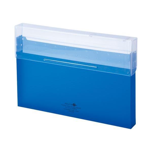 <title>LIHITLAB コングレスケース厚型 セールSALE%OFF A50248 青 ×50 ファイルボックス</title>