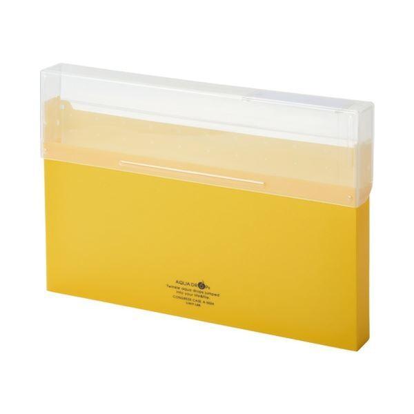 LIHITLAB コングレスケース厚型 A50245 ×50 ファイルボックス 新作多数 数量限定アウトレット最安価格 黄