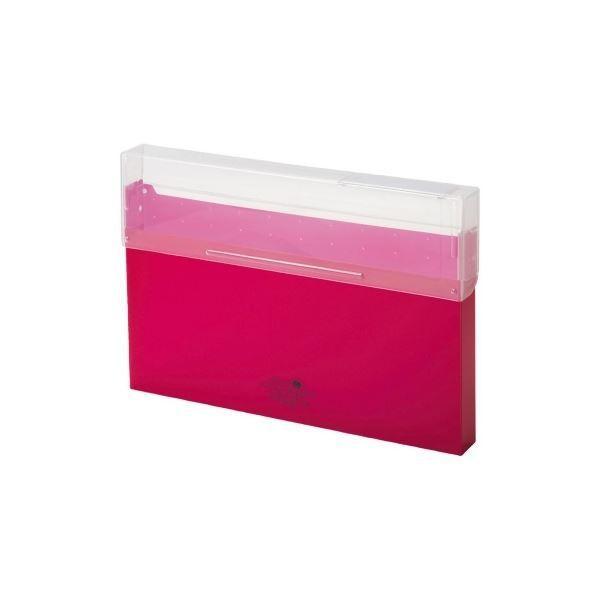 LIHITLAB コングレスケース厚型 A50243 驚きの値段で 赤 日本全国 送料無料 ファイルボックス ×50