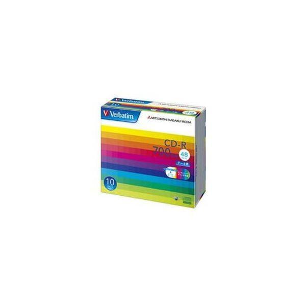 バーベイタム データ用CDR700MB ワイドプリンタブル 贈物 5mmスリムケース ×3 SR80SP10V1C 初売り 100枚:10枚×10個 1箱