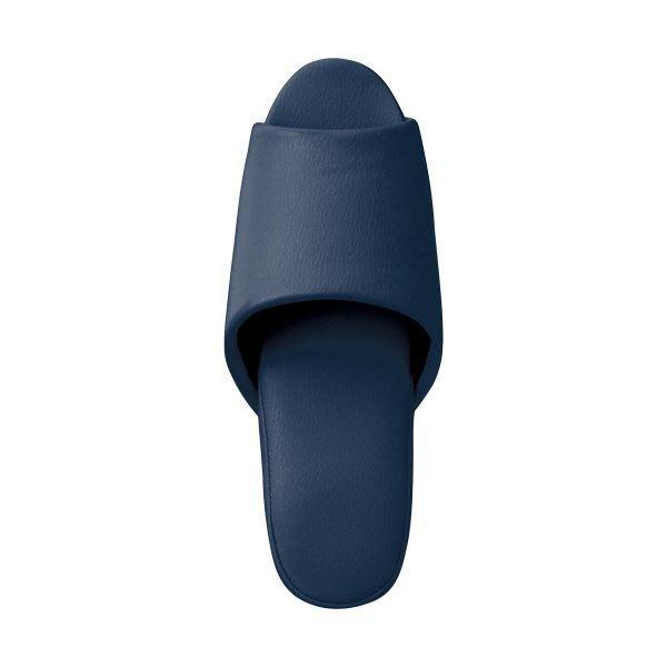 抗菌ビニールレザー調スリッパ 前開き ダークブルー スリッパ 正規品 10足 ×3 セール品