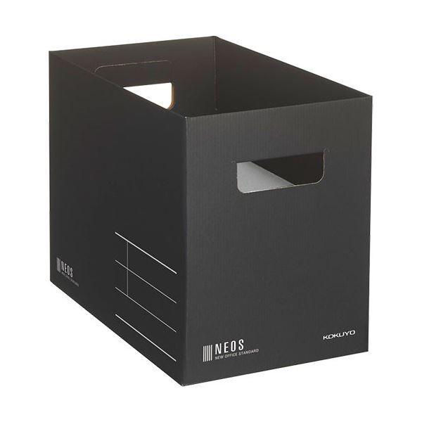 コクヨ 収納ボックス NEOS Mサイズ ブラック ファイルボックス 5%OFF 日本全国 送料無料 A4NEMBD ×3 10個 1