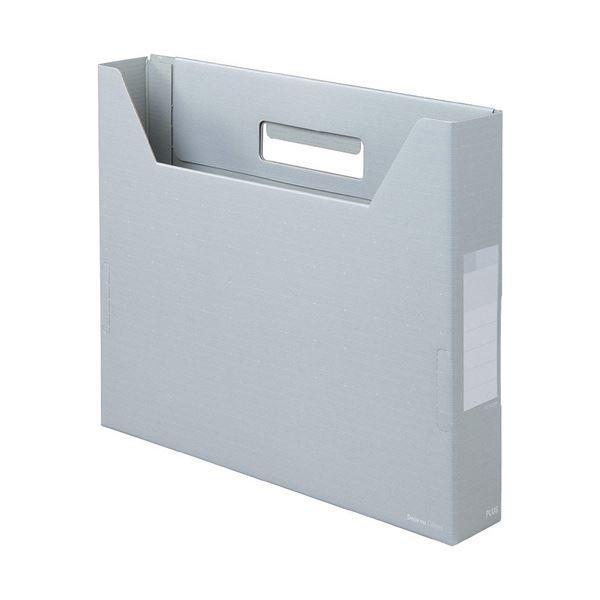 プラス デジャヴカラーズシリーズボックスファイル スリム A4ヨコ 背幅50mm シルバーグレイ 10冊 1 FL022BF ×5 ファイルボックス 正規認証品 迅速な対応で商品をお届け致します 新規格