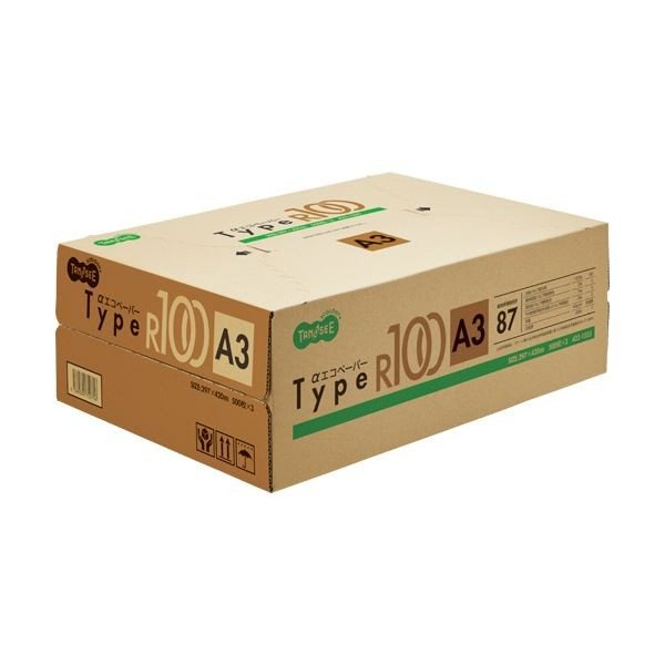 <title>TANOSEE αエコペーパータイプR100 A3 1箱 公式 1500枚:500枚×3冊 ×5 プリンター</title>
