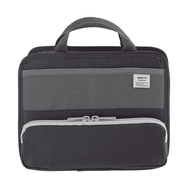 リヒトラブ SMART FITbright label スタンドポケット ヨコ型 ×10 ブラック 1個 特別セール品 注目ブランド A6 A766224