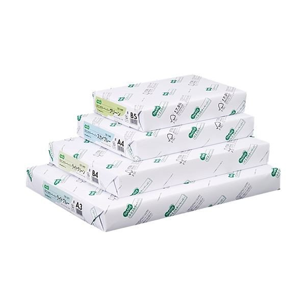 SALE TANOSEE αエコカラーペーパーII A3 ライトグリーン ×10 500枚 保証 1冊