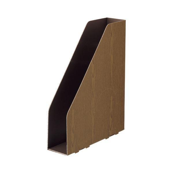 <title>TANOSEEボックスファイル WOODY A4スリムタテ 輸入 背幅65mm ブラウン 1 15冊:3冊×5パック ×10 ファイルボックス</title>