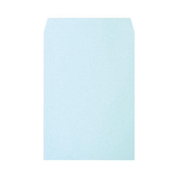 ハート 透けないカラー封筒 角2 100g m2 パステルブルー 今だけスーパーセール限定 XEP491 ×10 1パック 大人気 封筒 100枚