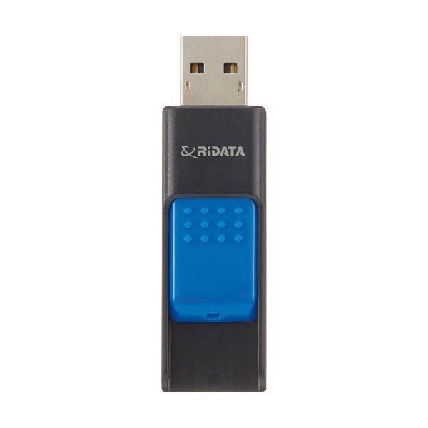 送料無料お手入れ要らず RiDATA ラベル付USBメモリー32GB ブラック ブルー 新商品 ×10 1個 RDAID50U032GBK BL
