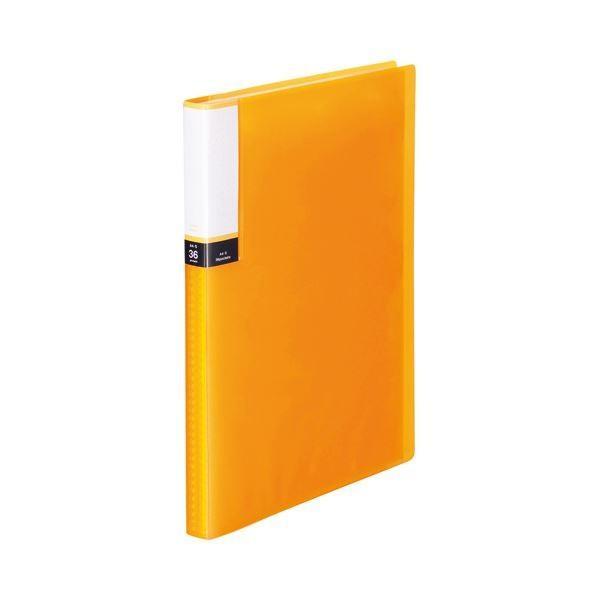 TANOSEE クリアブック 透明表紙 豊富な品 A4タテ 36ポケット 1 オレンジ ×10 背幅20mm 最新アイテム 10冊