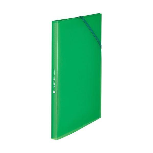 キングジム クリアーファイルホルダーイン A4タテ 12ポケット 期間限定特別価格 61713Tミト まとめ買い特価 緑 1冊 ×30