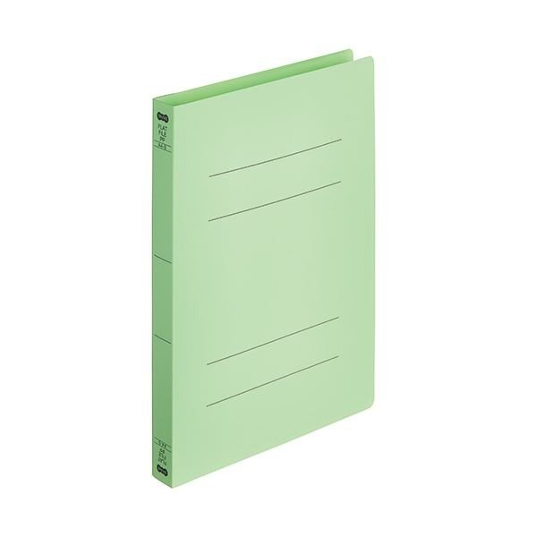 正規品送料無料 TANOSEEフラットファイル厚とじ PP 売店 A4タテ 250枚収容 背幅28mm ×30 グリーン 1パック 5冊