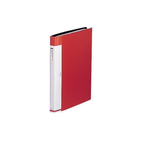 リヒトラブ リクエスト名刺帳 ポケット交換タイプ A4タテ 30穴 お買い得 360カード 1冊 ヨコ入れ 赤 G88123 流行のアイテム ×30