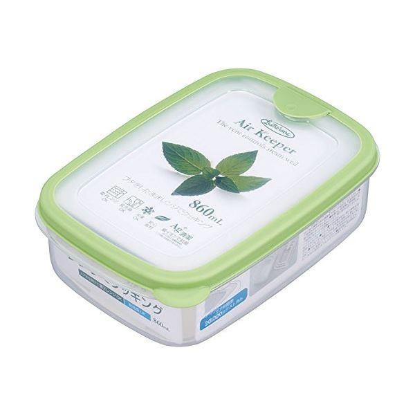 トラスト エアキーパー フードケース 保存容器 ソフトグリーン Mサイズ 抗菌効果 ×60個セット 860ml 食洗機可 実物