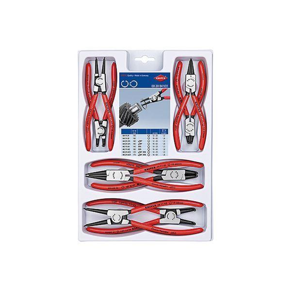 KNIPEX 別倉庫からの配送 絶品 クニペックス 002004V01 スナップリングプライヤーセット 8本組