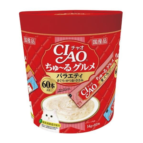 CIAO ちゅ〜るグルメ バラエティ 14g×60本 猫フード バースデー 記念日 ギフト 贈物 お勧め 通販 ペット用品 高い素材 ×8 キャットフード