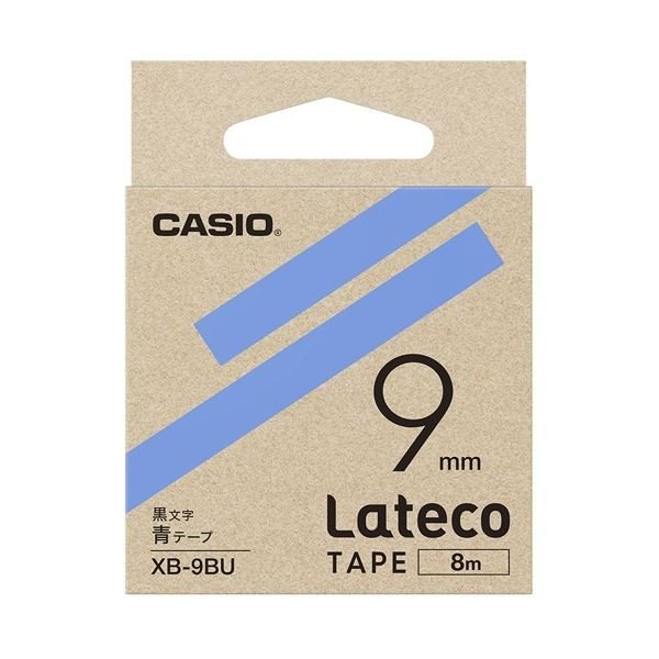ふるさと割 カシオ計算機 ラテコ専用テープXB9BU 青に黒文字 人気急上昇 ×30