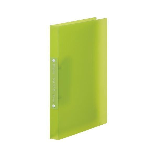 キングジム シンプリーズ 高品質新品 割り引き リングファイル ×50 透明 キミドリ