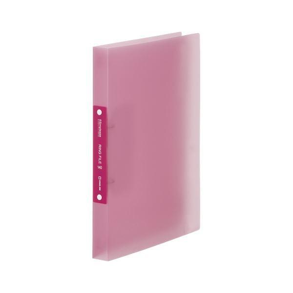 予約 価格 キングジム シンプリーズ リングファイル 透明 ×50 ピンク