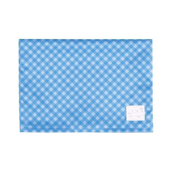 大幅値下げランキング ナカバヤシ 防災ずきんカバー 在庫一掃 チェックタイプ ブルー ×20