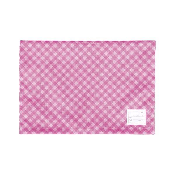 ナカバヤシ 防災ずきんカバー 定番スタイル チェックタイプ ピンク ×20 上質