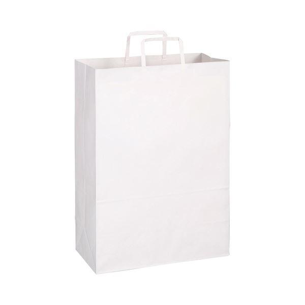 TANOSEE 紙手提袋 平紐 特大ヨコ340×タテ480×マチ幅170mm 白無地 2020モデル 300枚:50枚×6パック 超人気 紙袋 1