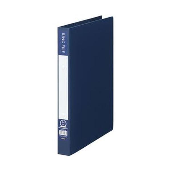 TANOSEE リングファイル 再生PP表紙 A4タテ 2穴 背幅30mm 200枚収容 流行 男女兼用 1冊 ×50 インディゴブルー