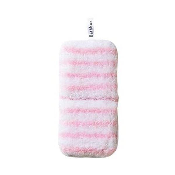 山崎産業 販売 (訳ありセール 格安) バスボンくんはさめるスポンジ抗菌 ピンク 掃除用品 ×20 1個