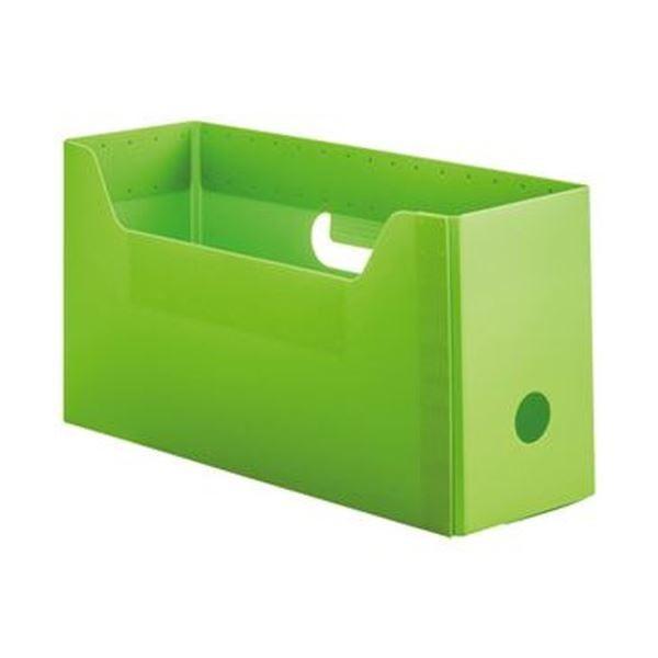 TANOSEE お気に入 PP製ボックスファイル 組み立て式 A4ヨコ ショートサイズ ファイルボックス グリーン 10個 ×5 1 プレゼント