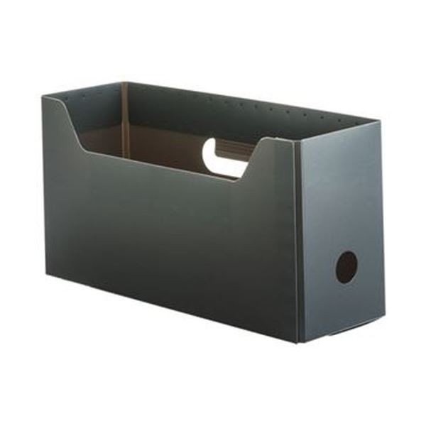 TANOSEE PP製ボックスファイル ファッション通販 組み立て式 A4ヨコ ショートサイズ ファイルボックス 1 グレー ラッピング無料 ×5 10個