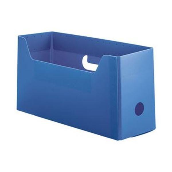 流行のアイテム TANOSEE PP製ボックスファイル 組み立て式 A4ヨコ ショートサイズ ブルー 1 美品 ファイルボックス 10個 ×5