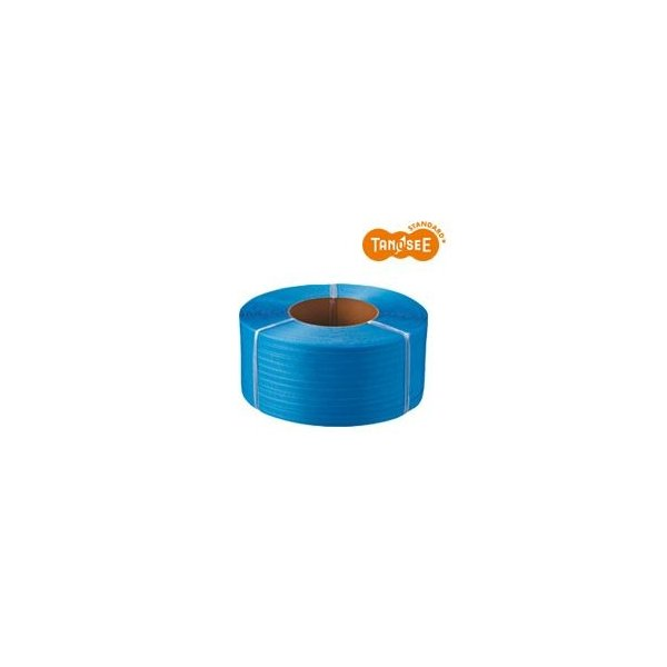 TANOSEE PPバンド 自動梱包機用 毎日がバーゲンセール 新作入荷 15mm×2500m 4巻 青