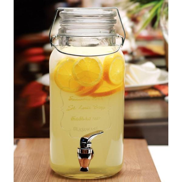 飲料水サーバー ビバレッジディスペンサー ドリンクディスペンサー サークルウエア 約3.7L セントルイス Circleware St. Louis Glass Beverage Dispenser