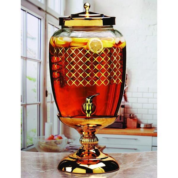 飲料水サーバー ビバレッジディスペンサー ドリンクディスペンサー ビバレッジ ディスペンサー ゴールド 約11L Circleware 68178 Beverage Dispenser Gold