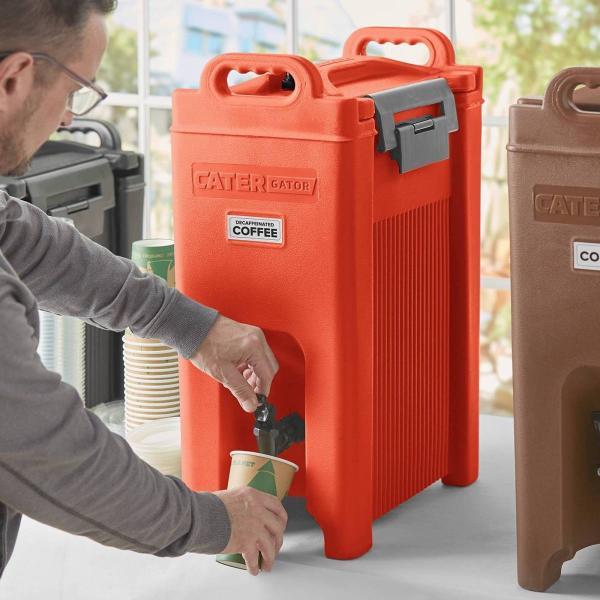 飲料水サーバー ドリンクディスペンサー ビバレッジディスペンサー 飲料ジャー ドリンクバー 約18L ケイターゲイター レッド CaterGator Beverage Dispenser
