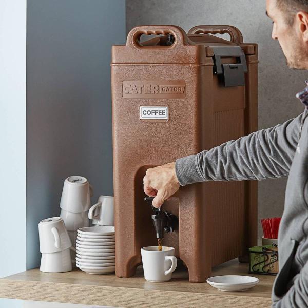 飲料水サーバー ドリンクディスペンサー ビバレッジディスペンサー 飲料ジャー ドリンクバー 約18L ケイターゲイター ブラウン CaterGator Beverage Dispenser