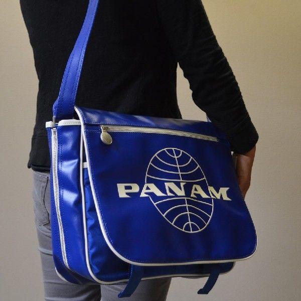 パンナム メッセンジャーバッグ ダークブルー ユニセックス Pan Am Messenger Reloaded Blue  (鞄 かばん カバン)